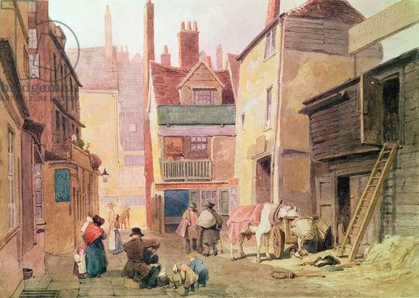 St. Bartholomew Close, Smithfield, London, 1850 (w/c on paper)