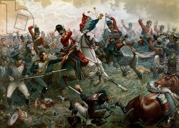 Battle of Waterloo, 18th June 1815, 1898 (colour litho)