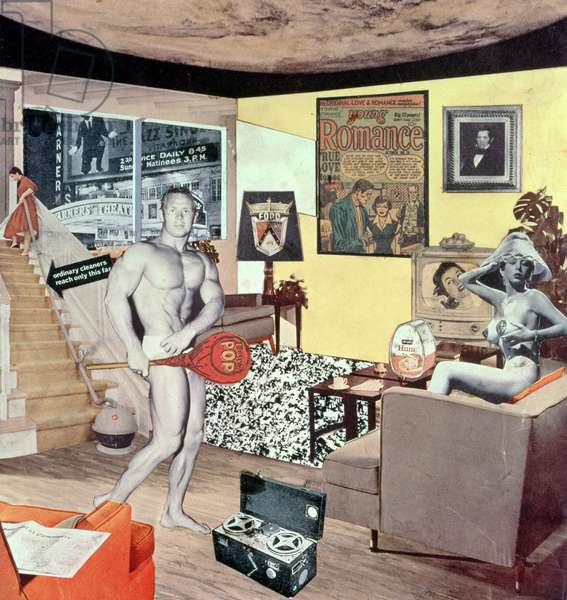 """""""Just what is it that makes today's homes so different, so appealing?"""", 1956 (collage)"""