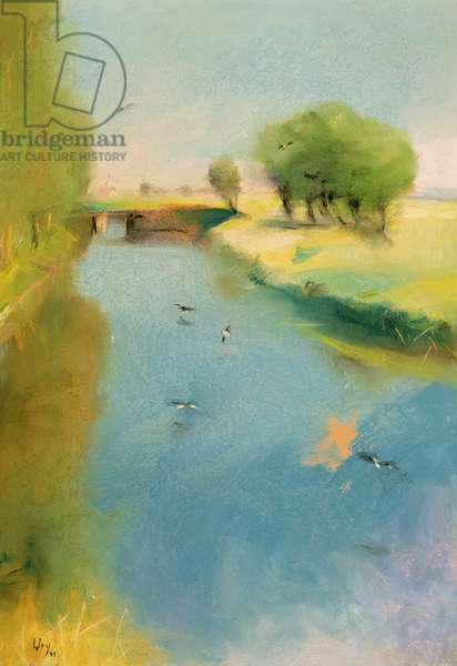 Canal, 1897 (pastel on canvas)