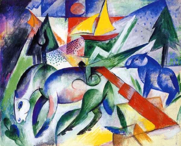 Horse (gouache on card)
