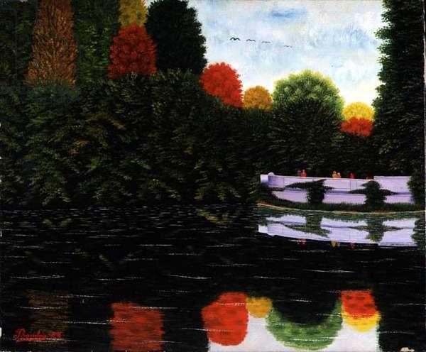 Autumn Reflections, c.1930 (oil on canvas)