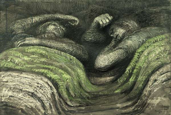 Shelter Drawing, 1941 (chalk, pen and w/c on paper)
