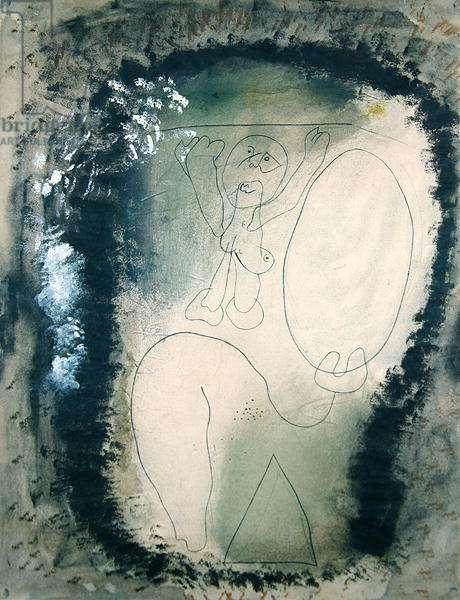 Composition, c.1937 (oil, w/c & chalk on paper)