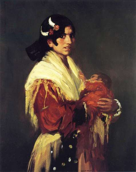 Gypsy and her Baby, 1906 (oil on canvas)