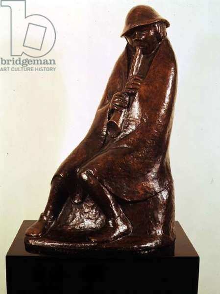 Boy Playing the Flute, c.1936 (bronze)