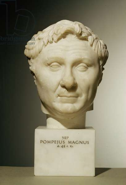 Bust of Pompey (106-48 BC) c.60 BC (marble)