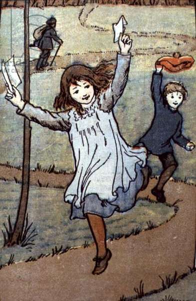 Christmas Card, 1900 (litho)