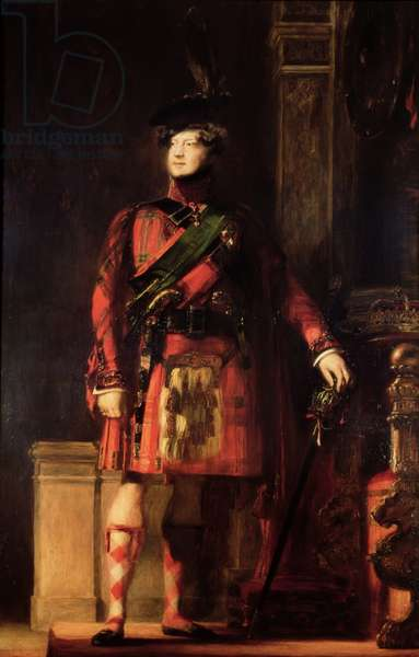 George IV (1762-1830) in Highland Dress, 1830 (oil on canvas)