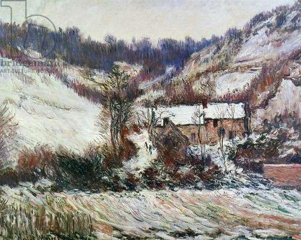 Snow near Falaise, Normandy, c.1885-86 (oil on canvas)