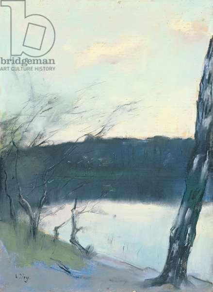 Landscape (pastel on canvas)