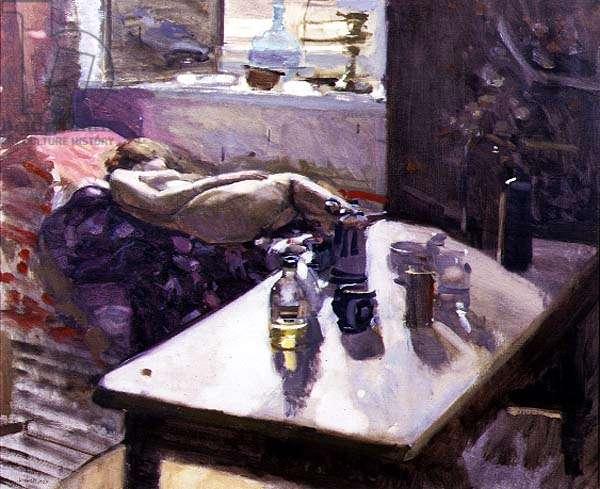 The Studio (oil on canvas)