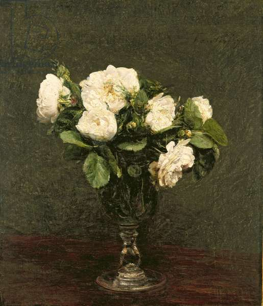 White Roses, 1875 (oil on canvas)