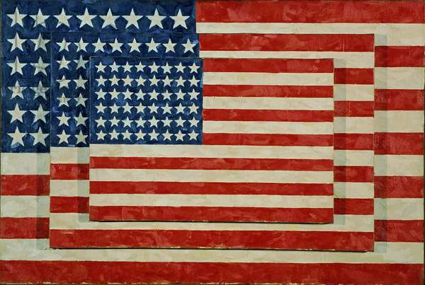 Three Flags, 1958 (encaustic on canvas)