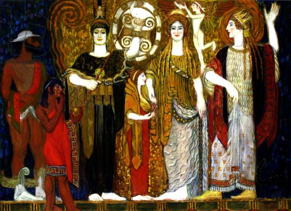 The Crowning of Helen, 1906 (oil on canvas)