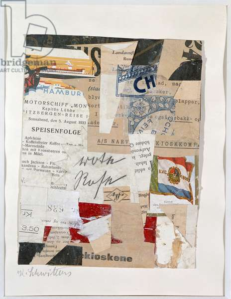 The Red Rose, c.1933-34 (collage)