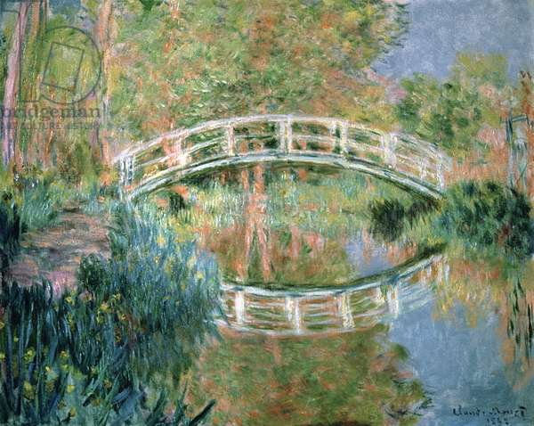 The Japanese Bridge, Giverny, 1892 (oil on canvas)
