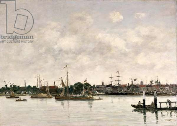 The Meuse at Dordrecht, 1874 (oil on canvas)