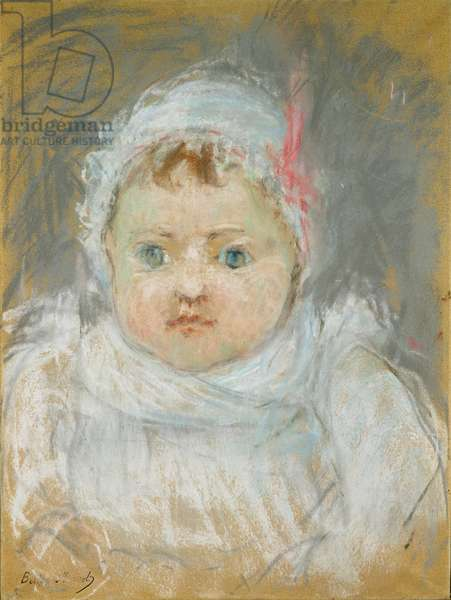 Blanche Pontillon as a Baby, 1872 (pastel on paper)