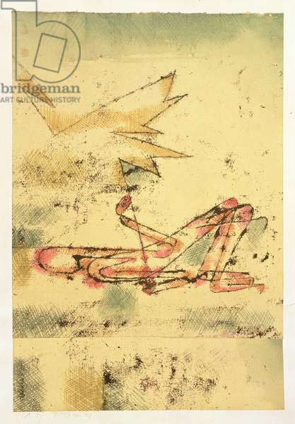 Lightning Stroke, 1920 (no 17) (oil transfer & w/c on paper on cardboard)
