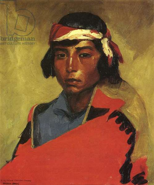 Boy from the Tesuque Pueblo, 1916 (oil on canvas)