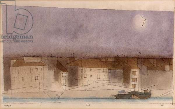 Dusk, 1938 (w/c, pencil, pen and ink on paper)