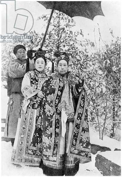 Tz'u Hsi (1835-1908) Empress Dowager of China, c.1903 (b/w photo)