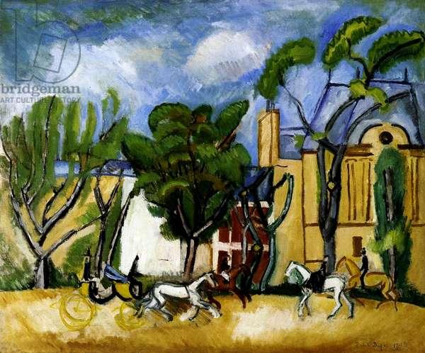 Bois de Boulogne, 1908 (oil on canvas)