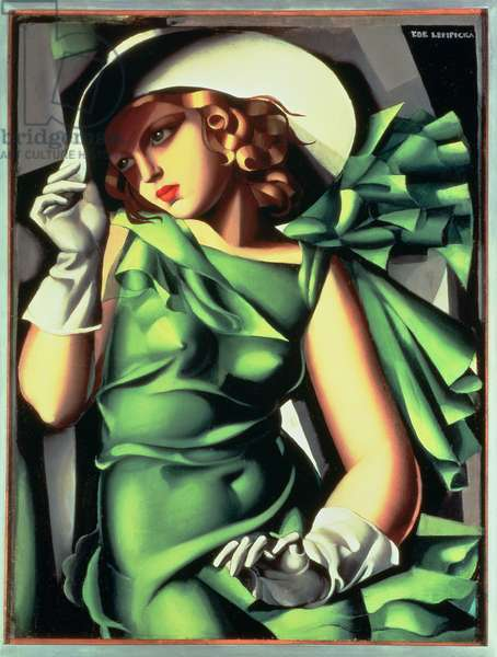 Young Girl in Green, 1927 (oil on canvas)