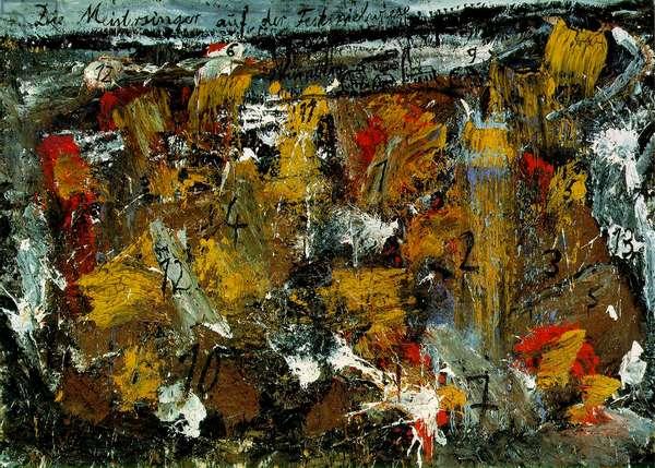 Die Meistersinger, 1981-82 (oil, emulsion & sand on photograph on canvas)