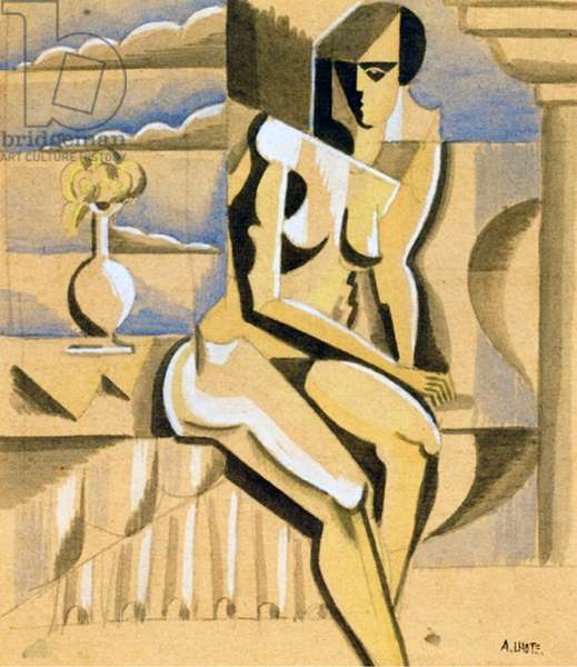 Seated Nude, c.1917 (w/c & pencil on paper)