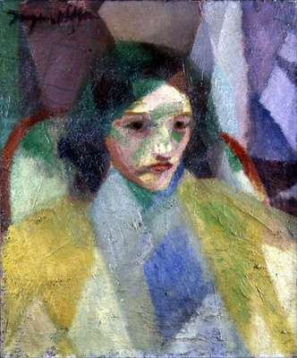 A Woman, 1913 (oil on canvas)