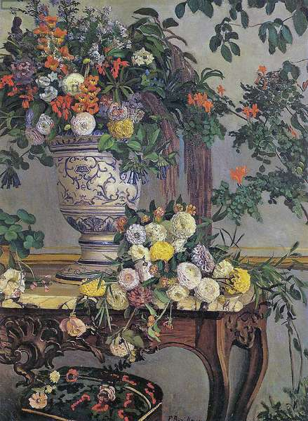 Flowers, 1868 (oil on canvas)