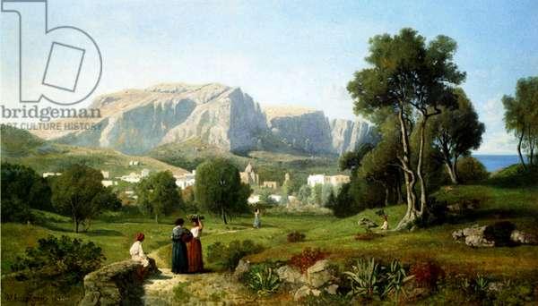 Capri, 1853 (oil on canvas)