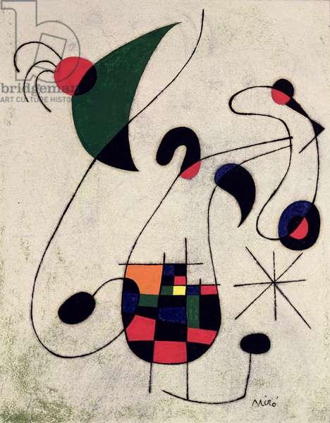 The Melancholy Singer, 1955 (oil on card)