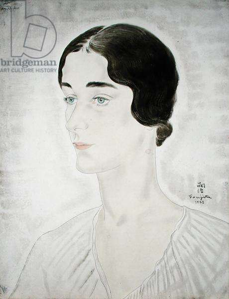 Portrait of a Woman, 1931 (pen & ink and oil on canvas)