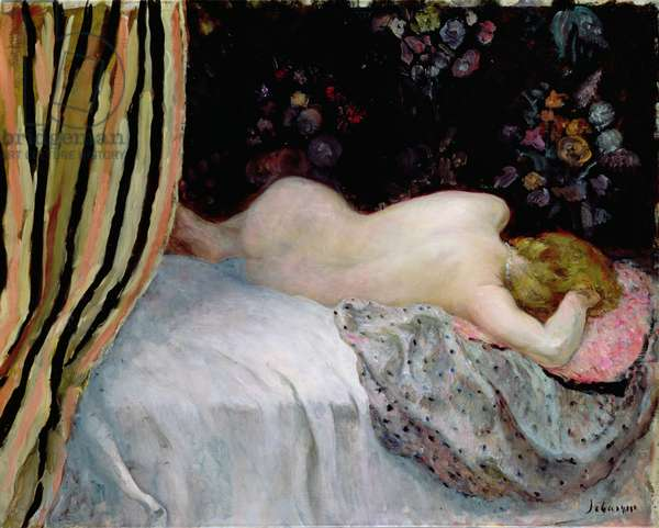 Sleeping Woman (oil on canvas)