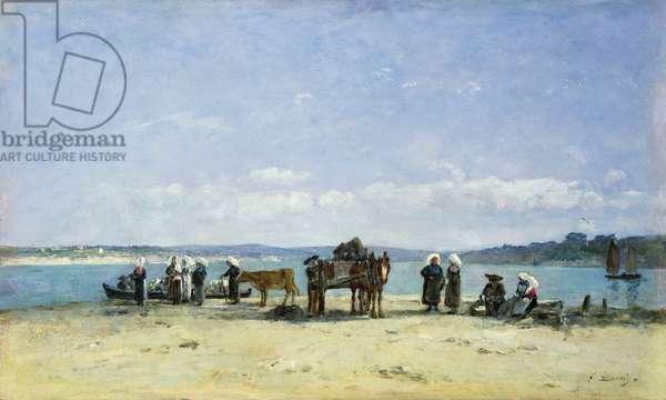 The Breton Fishermen's Wives, 1870-73 (oil on panel)