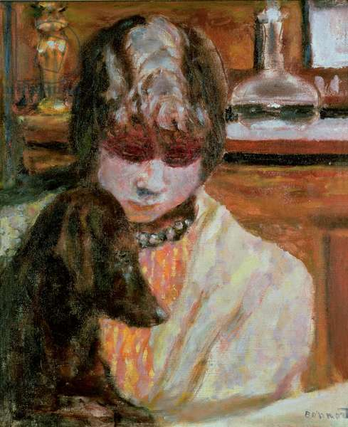 Woman with a Dog, c.1913 (oil on canvas)