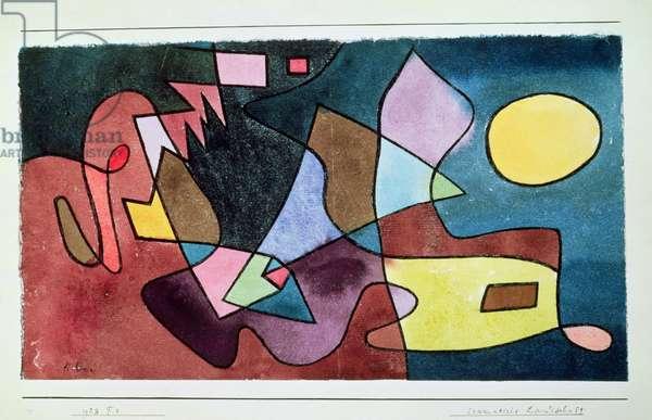 Dramatic Landscape, 1928 (no 154) (pen & w/c on paper on cardboard)