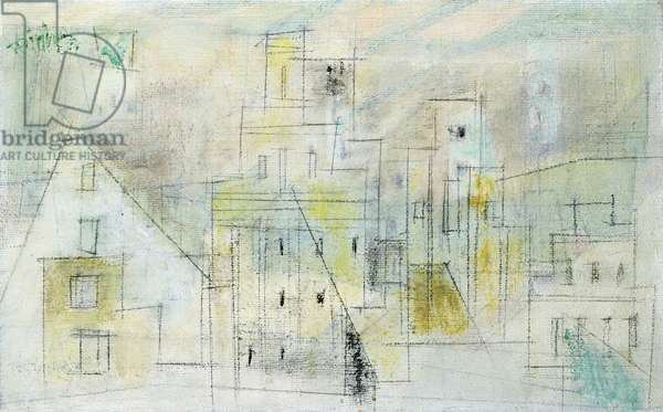 Composition Gables III, 1953 (oil and pencil on canvas)