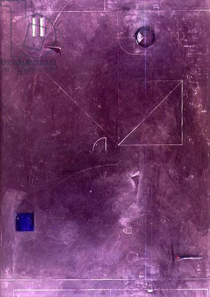 Black Board, 1986-87 (oil on canvas & collage)