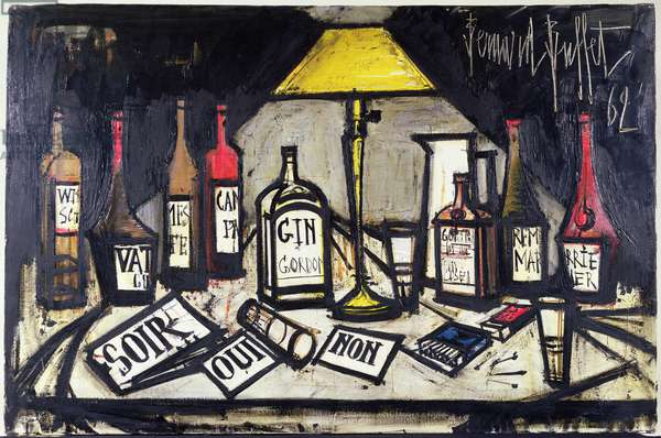 Still Life with Bottles, 1962 (oil on canvas)