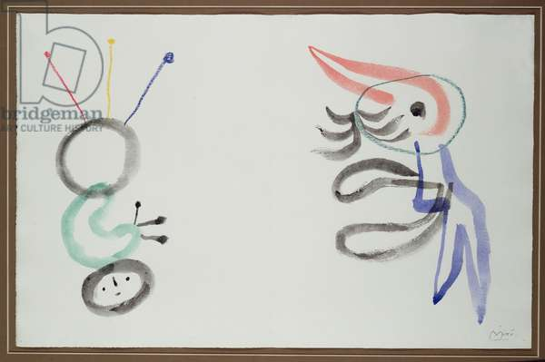 Study for 'Ubu Roi', a play by Alfred Jarry, 1954 (w/c & wax crayon on paper)
