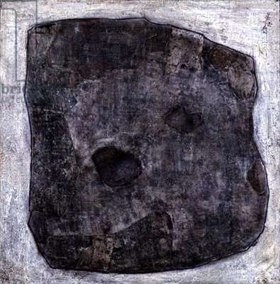 Rock, 1959 (oil & collage on paper)