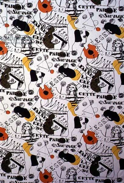 'This Wild Parade', printed in 1956 (textile)