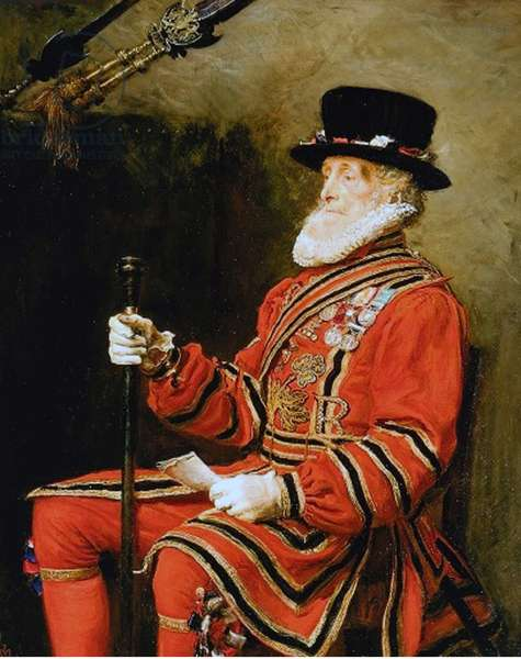 John Charles Montague, Yeoman of the Guard, 1876 (oil on canvas)