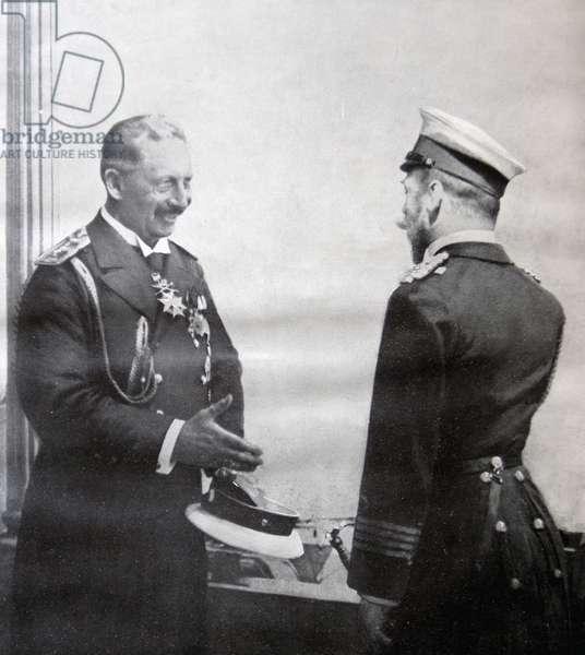 Kaiser Wilhelm II and Tsar Nicholas II, 1914 (b/w photo)