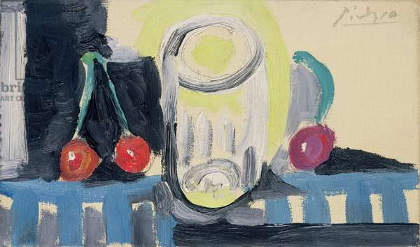 Glass and Cherries, 1945 (oil on canvas)