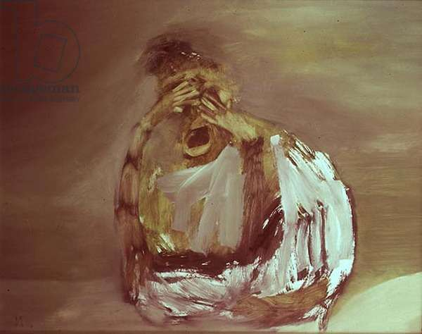 Seated Figure (oil on canvas)